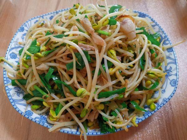 黄豆芽炒肉丝的做法