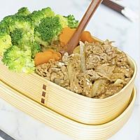 【日式肥牛饭】漫画里走出来的销魂肥牛饭,肉汁鲜美,吃完就哭了的做法图解1