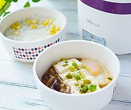 #精品菜谱挑战赛#带饭便当也有高颜值-周二过桥豆腐配玉米粒饭的做法