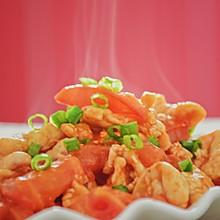 #精品菜谱挑战赛#西红柿溜鸡肉片(好吃又低卡)