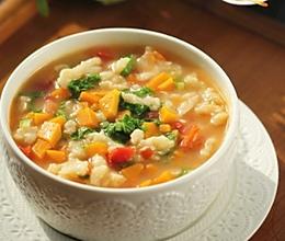 南瓜番茄疙瘩汤的做法