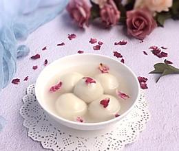 带着玫瑰芳香的红豆汤圆的做法