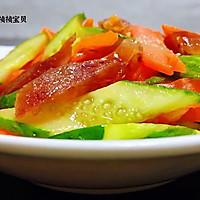 #元宵节美食大赏#黄瓜胡萝卜炒腊肠的做法图解14