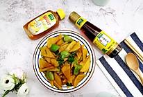 #太太乐鲜鸡汁芝麻香油#土豆片青椒的做法