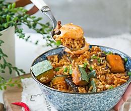 香菇虾仁南瓜饭的做法