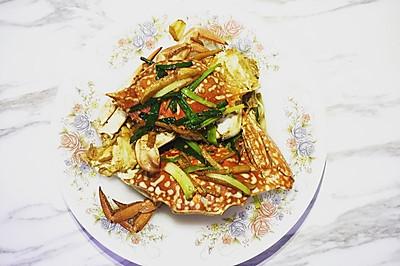 被讚好廚藝的薑蔥炒螃蟹