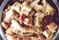 五花肉炖白菜冻豆腐的做法