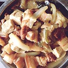 五花肉炖白菜冻豆腐