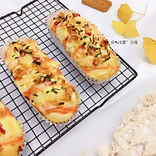 #安佳食力召集,力挺新一年#咸香松软火腿肉松面包