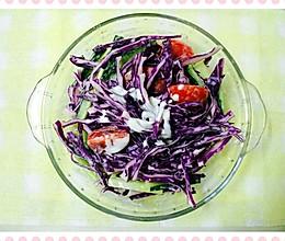 紫甘蓝清爽沙拉的做法