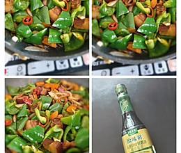 #仙女们的私藏鲜法大PK#酱肉炒青椒的做法