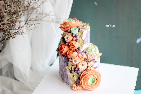 复古双层裱花蛋糕#相约MOF#的做法