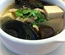 零厨艺快手汤——【木耳豆腐汤】的做法