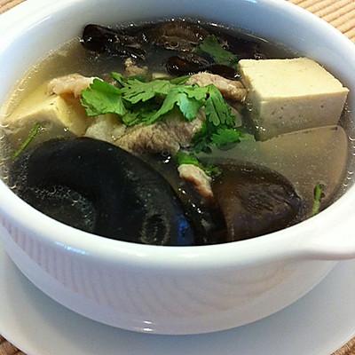 零厨艺快手汤——【木耳豆腐汤】