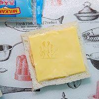 芝士火腿三明治#百吉福食尚达人#的做法图解4