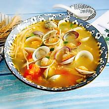 #肉食者联盟#番茄菌菇蛤蜊汤