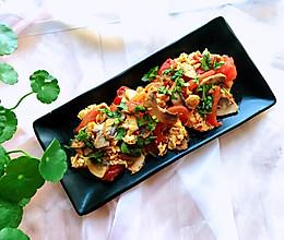 口蘑番茄炒蛋,得意料理+#初夏搜食#的做法