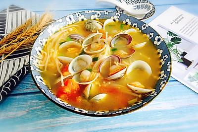 番茄菌菇蛤蜊湯