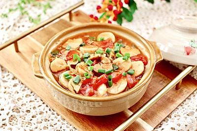 杏鲍菇扇贝花肉煲