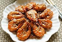 洋葱芝麻爆虾的做法