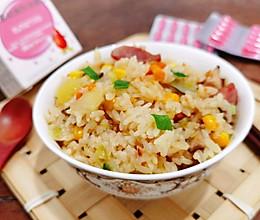 #一起加油,我要做A+健康宝贝#懒人版电饭锅土豆时蔬香肠焖饭的做法