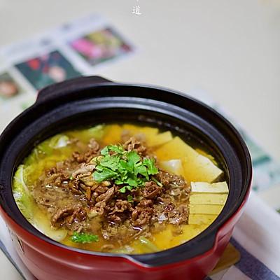白菜豆腐羊肉卷