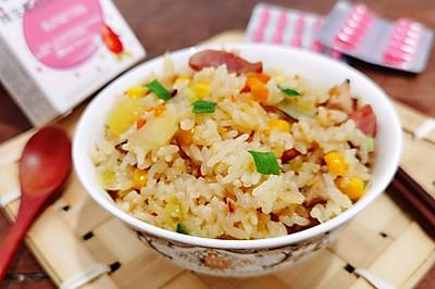 懒人版电饭锅土豆时蔬香肠焖饭