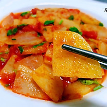 #元宵节美食大赏#西红柿炒土豆片