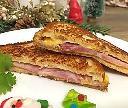 #安佳食力召集,力挺新一年#黄油香煎火腿芝士三明治的做法