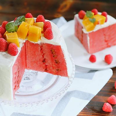 西瓜的3种吃法:西瓜蛋糕/西瓜魔方/爪爪冰棒