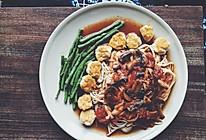 番茄蘑菇汤酱配鸡肉丸的做法