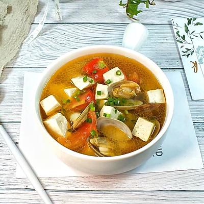 西紅柿蛤蜊豆腐湯