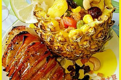 自创美味泰式红咖菠萝饭(图文超详细版)