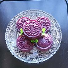 豆沙馅水晶紫薯饼——健康美味蒸出来