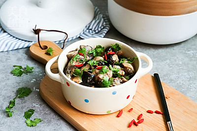 双菇蒸鸡--简单好做的快手蒸菜