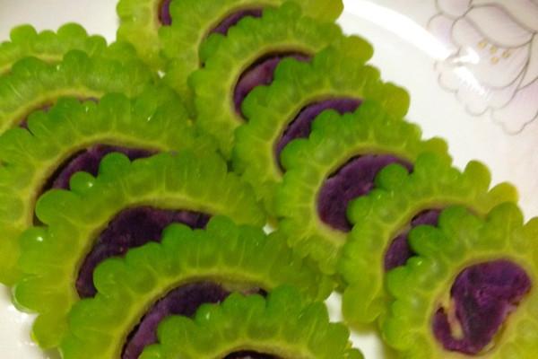 紫薯酿苦瓜的做法