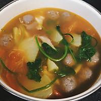 西红柿牛肉丸汤的做法图解3
