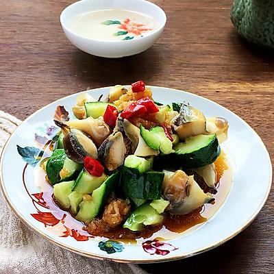 夏季凉拌菜黄瓜海螺肉