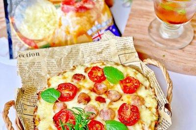 无碳水蔬菜底披萨