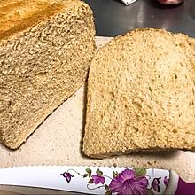 低卡全麦面包(面包机版成功率高很柔软)