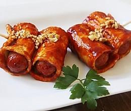辣味豆腐火腿串的做法