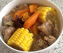 南瓜排骨汤的做法