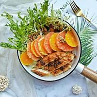 #西餐#橙柚蒜香鸡胸肉沙拉的做法图解11