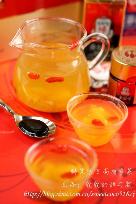 鲜果明目红参茶的做法