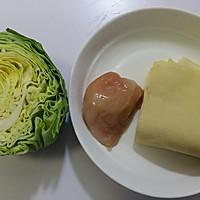 #父亲节,给老爸做道菜#干豆腐包菜炒鸡片的做法图解1