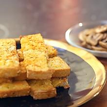 蒜香芝士条+烤口蘑