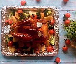 肉嫩汁多的美味烤全鸡 附史上最简单的腌制配方的做法