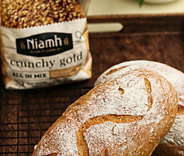 #Niamh一步搞定懒人面包#无油无糖谷物欧包的做法