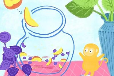 【手绘食谱】紫苏桃子姜 让夏日的味蕾急速分泌唾液 ~