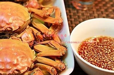 清蒸湖蟹&姜末糖醋汁